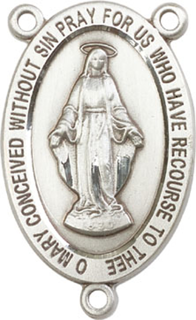 Bliss ManufacturingSterling Silver Miraculous Medal Rosary