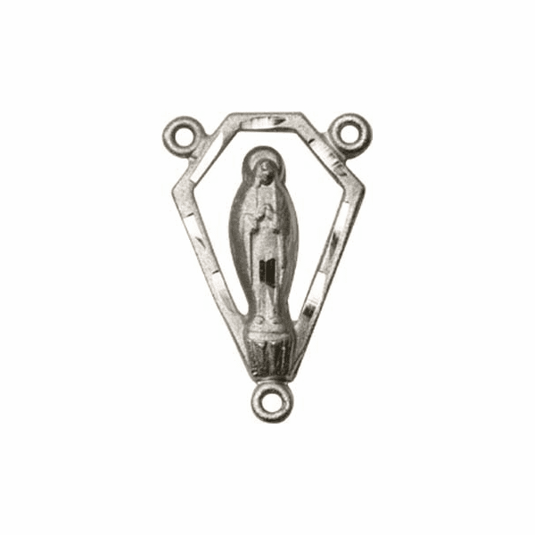 Bliss Sterling Silver Praying Madonna Rosary Centerpiece Part by Bliss