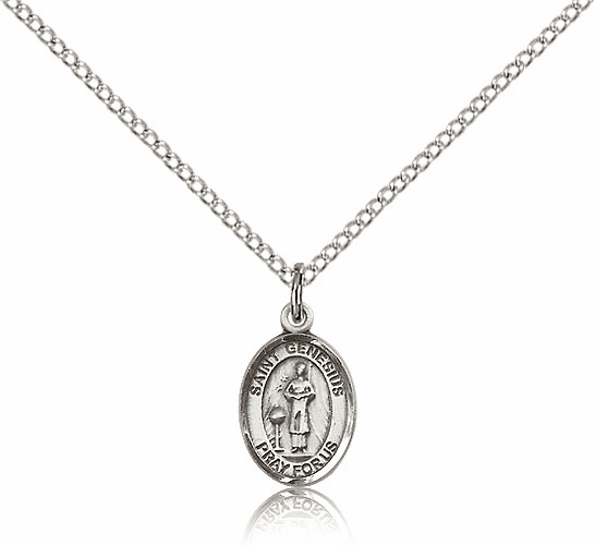 Bliss Sterling Silver St. Genesius of Rome Pendant