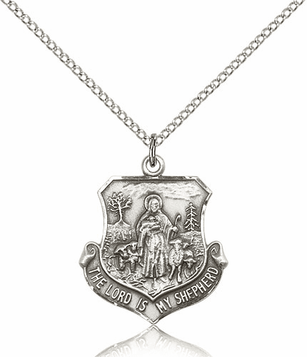 Bliss Sterling Silver The Lord Is My Shepherd Pendant Necklace