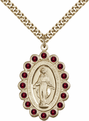 Bliss Swarovski January Garnet 14kt Gold-filled Miraculous Pendant