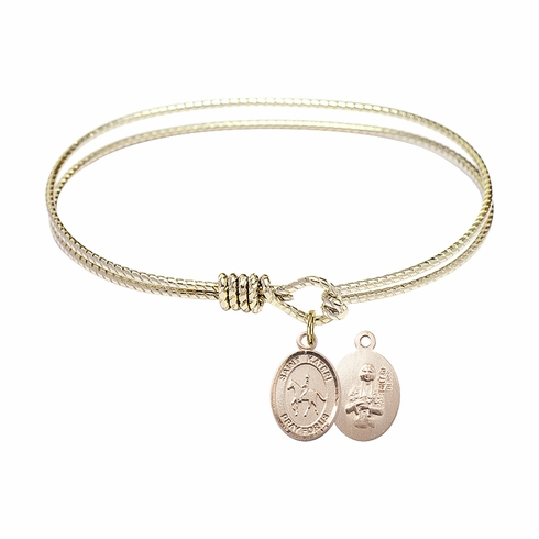 Bliss Twist St Kateri Equestrian Bangle Gold-filled Charm Bracelet
