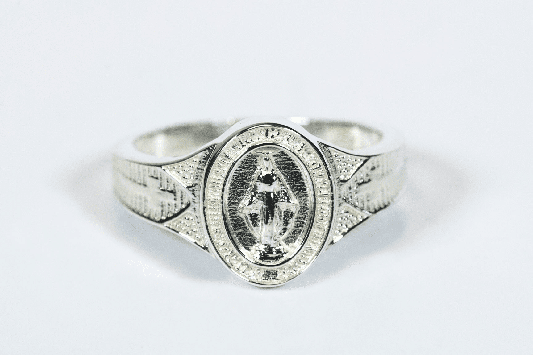 Bliss Women's Catholic Sterling Silver Miraculous Medal Ring