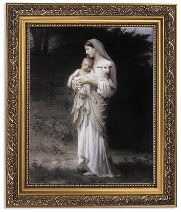 Bouguereau Innocence Framed Print Picture with Gold Frame by Gerffert