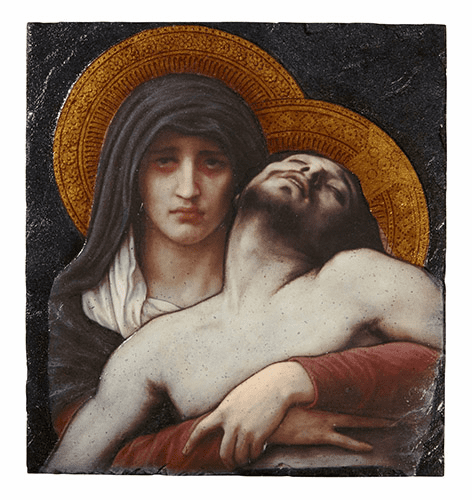 Bouguereau Pieta Marco Sevelli 8 x 10 Plaque by Sacred Traditions