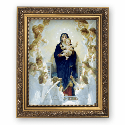 Bouguereau Queen of Angels Framed Print Picture with Gold Frame by Gerffert