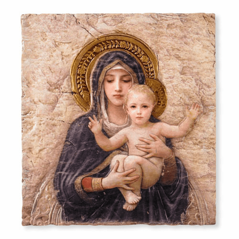 Bourguereau Madonna and Child Marco Sevelli Icon Wall Plaque