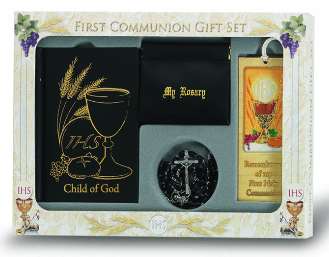 Boy's 6 pc. Deluxe Catholic Communion Gift Set