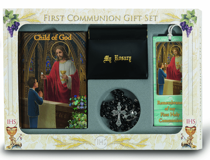 Boy's 6 pc. Deluxe Communion Religious Gift Set