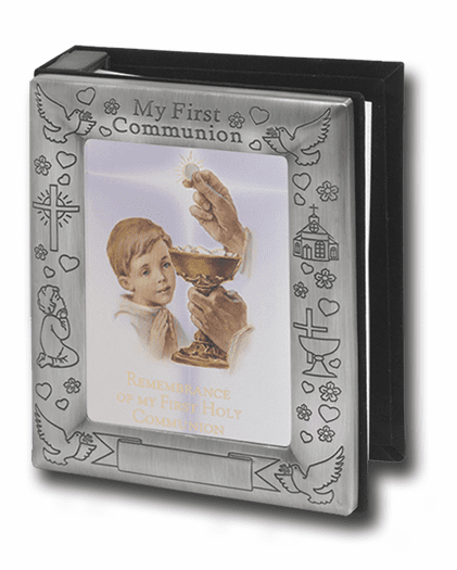 Boy's Pewter First Holy Communion Photo Album by Hirten
