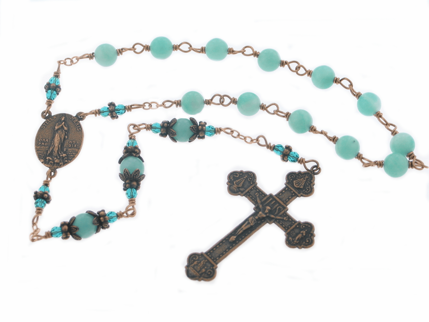 Bronze Stella Maris Our Lady Star of the Sea Chaplet Rosary