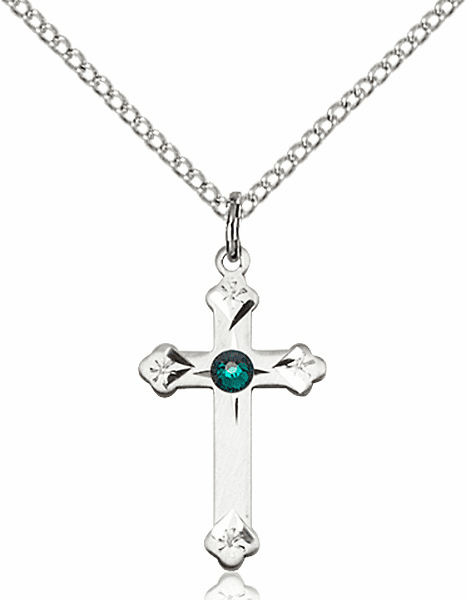 Budded Cross Birthstone Crosses