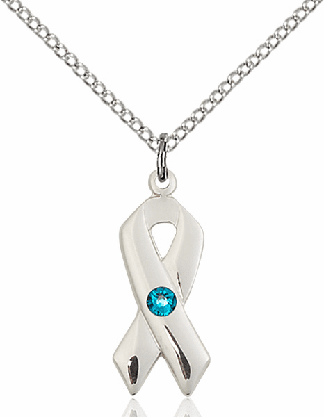 Cancer Awareness December Zircon Birthstone Swarovski Crystal Pendant by Bliss