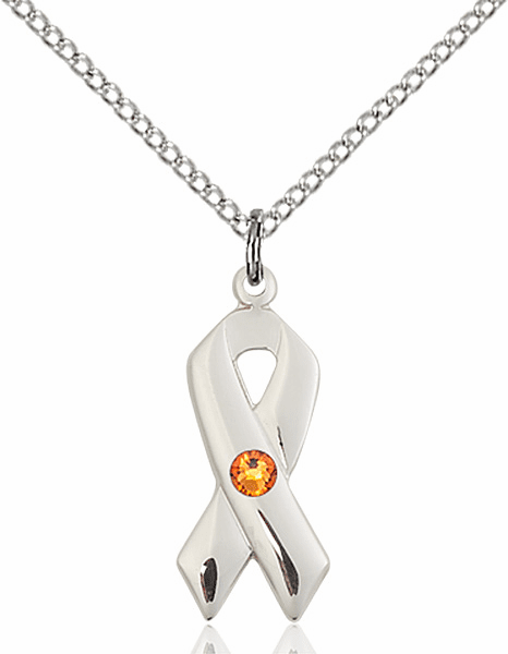 Cancer Awareness November Topaz Birthstone Swarovski Crystal Pendant by Bliss
