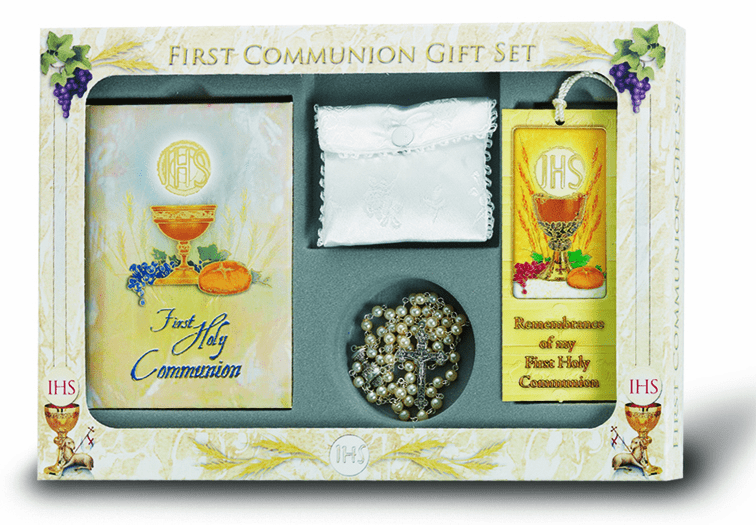 Catholic 6 pc. Deluxe Communion Gift Set