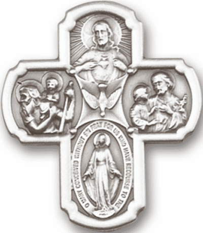 Catholic Five-Way Cross Medal Visor Clip by Bliss
