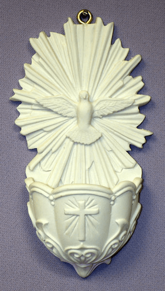 Catholic Holy Confirmation Alabaster Water Font