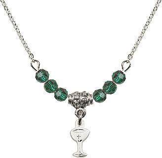 Chalice Cup Charm Crystal Bead Necklaces