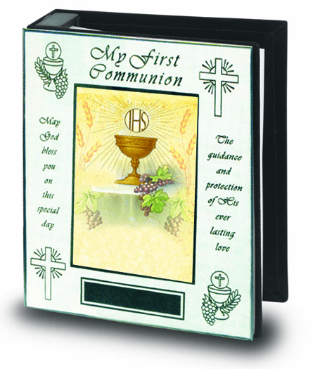 Chalice First Holy Communion Polished Brass Photo Album by Hirten