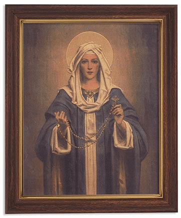 Chambers Our Lady of the Rosary Framed Print Picture with Woodtone Frame by Gerffert