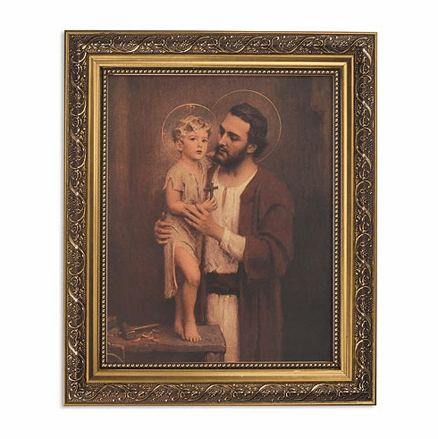 Chambers Saint Joseph Framed Print Picture with Gold Frame by Gerffert