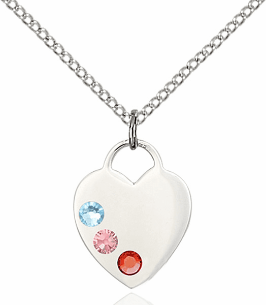 Charm Swarovski Crystal Multi-Color Heart Necklace by Bliss