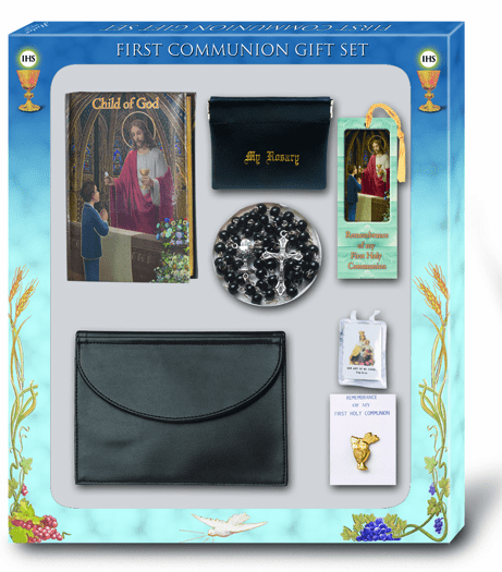 Child of God Boy 7pc Deluxe First Communion Gift Set by Hirten
