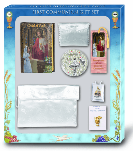 Child of God Girls 7pc Deluxe First Communion Gift Set by Hirten