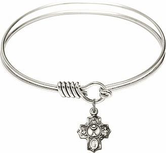 Children's Holy Communion Round Eye Hook Bangle Charm Bracelet by Bliss