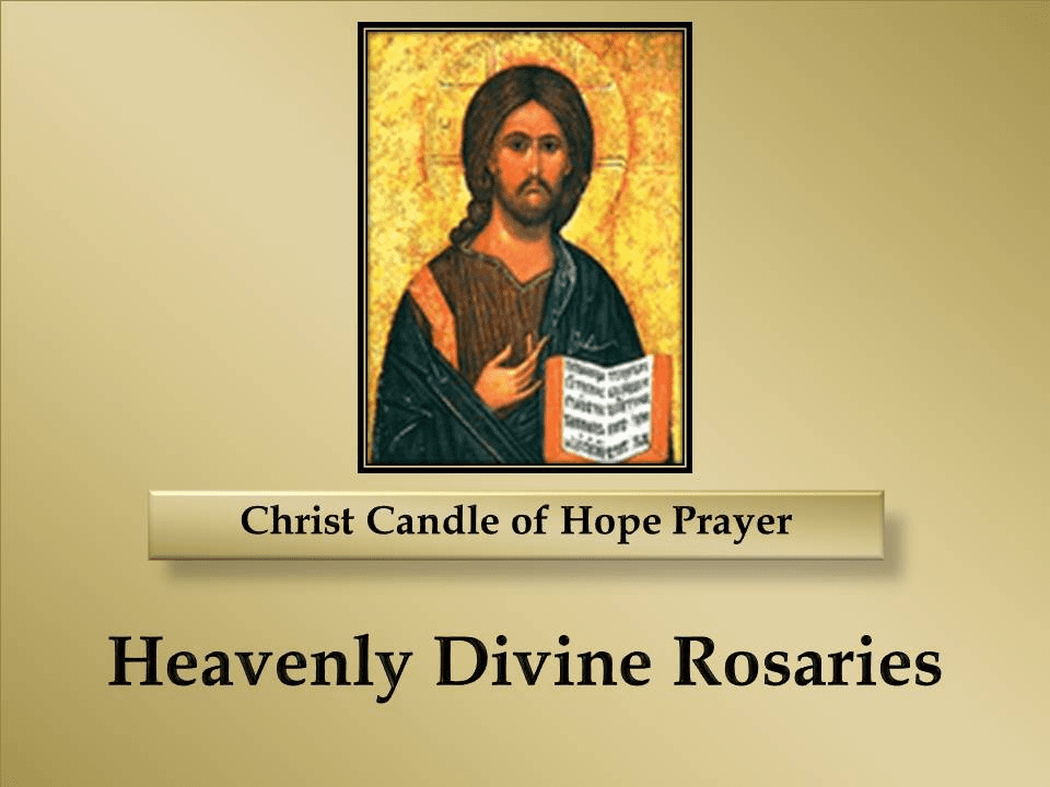 Christ Candle of Hope Prayer