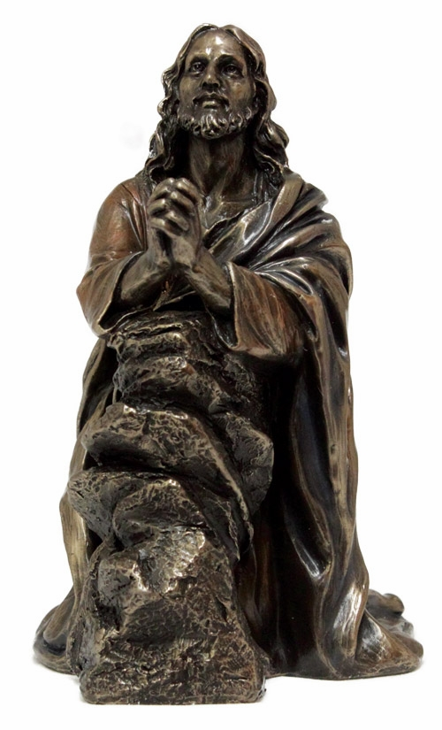 Christ in the Garden of Gethsemane Cold-Cast Bronze Statue by Veronese Collection