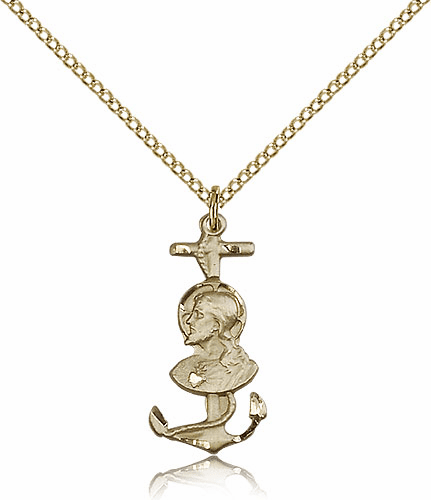 Christ is My Anchor 14kt Gold-Filled Medal Necklace by Bliss Manufacturing