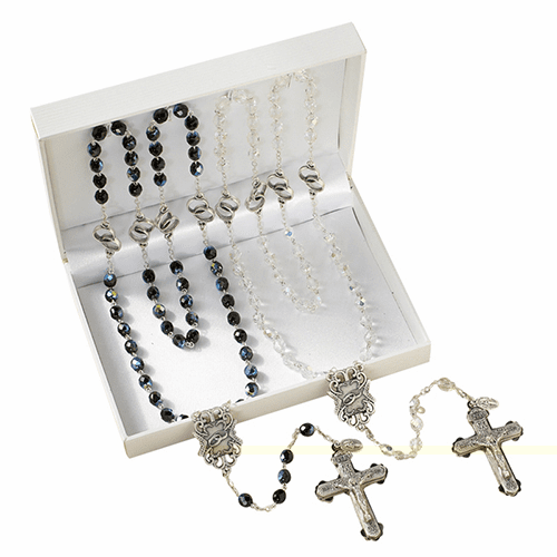 Christian Interlocking Rings Wedding Prayer Rosaries Gift Set