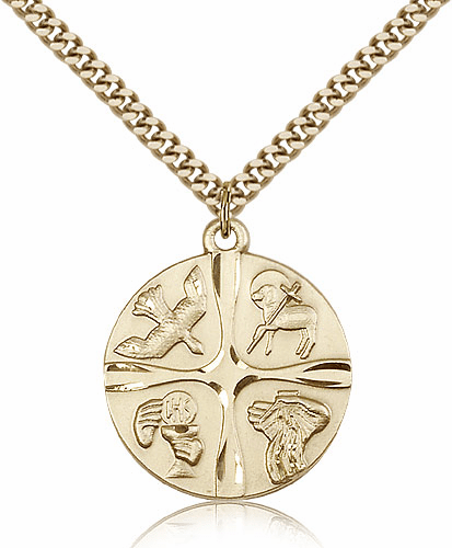 Christian Life 14kt Gold-filled Medal Necklace with Chain by Bliss