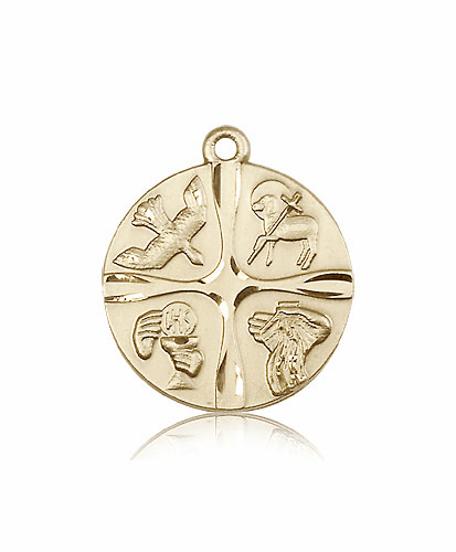Christian Life 14kt Solid Gold Medal Pendant by Bliss