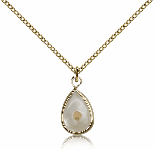 Christian Mustard Seed 14kt Gold-Filled Medal Necklace by Bliss Manufacturing