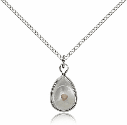 Christian Mustard Seed Sterling Silver Medal Necklace by Bliss Manufacturing