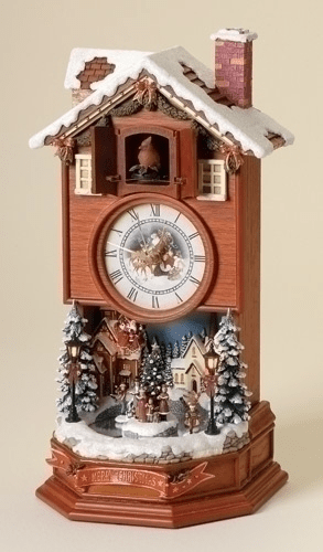Christmas Winter Wonderland Cuckoo Clock