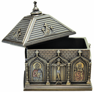 Cold Cast Bronze Keepsake & Rosary Boxes