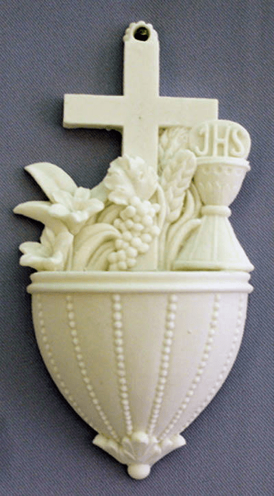 Communion Alabaster Holy Water Font