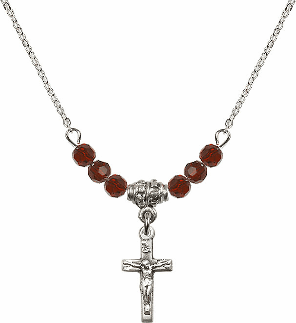 Communion Crucifix Beaded Charm Necklaces