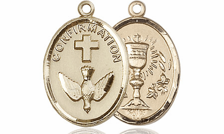 Confirmation Chalice 14kt Gold Medal by Bliss Manufacturing