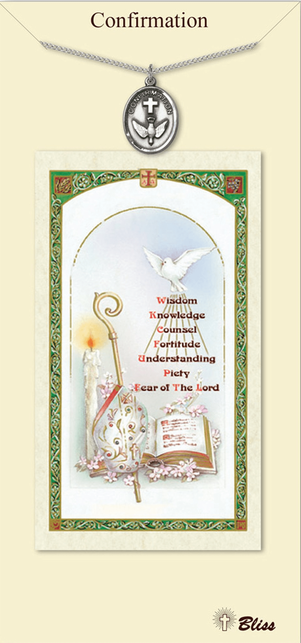 Confirmation Prayer Card & Pendant Gift Set