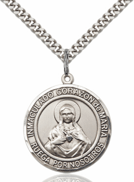 Corazon Immaculado de Maria/Immaculate Heart Spanish Necklace by Bliss