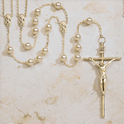 Creed Gold Ivory Lasso Wedding Rosary
