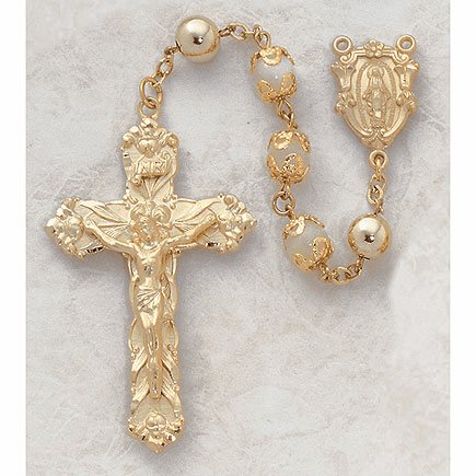 Creed Gold Over Sterling Silver Rosaries