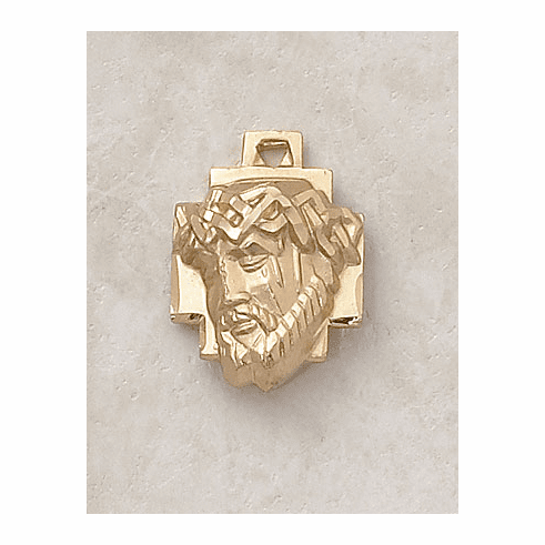 Creed Head of Christ Passion Gold over Sterling Silver Medal Necklace
