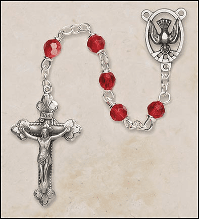 Creed Red Ruby Italian Confirmation Holy Spirit Prayer Rosary