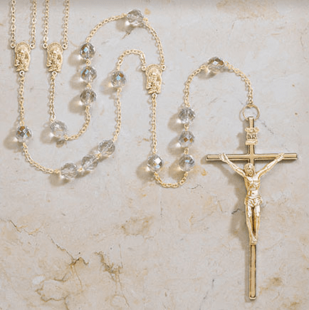 Creed Religious Gold Crystal Lasso Wedding Rosary