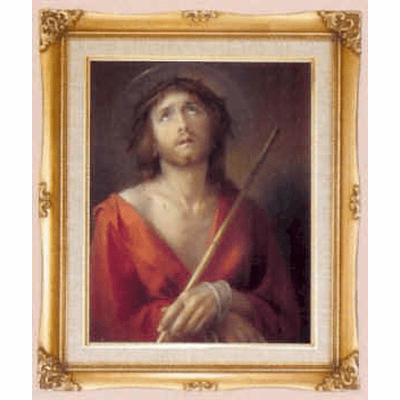 Cromo N B Milan Italy ECCE HOMO Simeone Crown of Thorns w/Gold Framed Picture